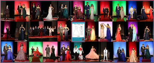 Collage of Prom Fashion Show