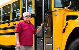 DISTRICT 211 BUS DRIVER PASSES 50 YEARS OF SERVICE TO DISTRICT