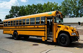 District 211 received the first of its new alternative fuel buses in late July.  The new buses will