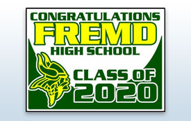 Yard sign - class of 2020